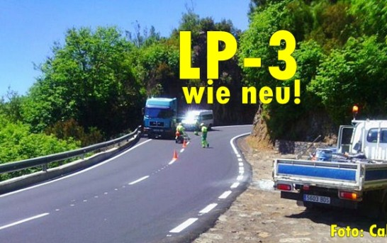 La Palma LP-3: Hauptverkehrsader ist neu asphaltiert