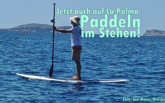 Neuer Wasserspaß auf La Palma: Stand-Up-Paddling