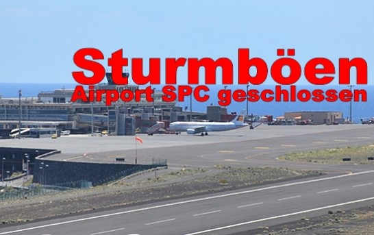 28.11.2014: Flughafen Santa Cruz de La Palma war dicht