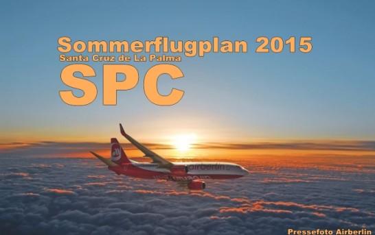 Flugplan Sommer 2015 Santa Cruz de La Palma (SPC)