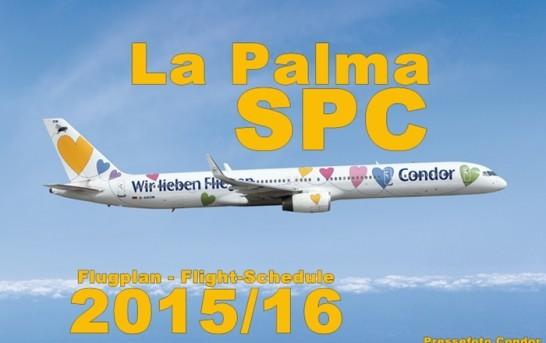 Flugplan Winter 2015/2016 Santa Cruz de La Palma (SPC)