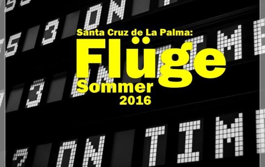 Flugplan Sommer 2016 Santa Cruz de La Palma (SPC)