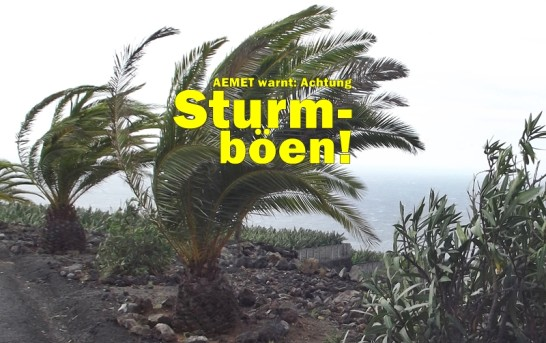 Wetterwarnung La Palma am 10./11.12.2017