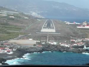 Nur noch wenige Sekunden bis zur Landung in La Palma.
