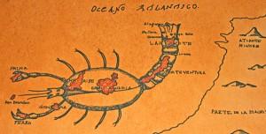 Kanarenkarte mit San Borondón: Gibt es die 8. Insel?