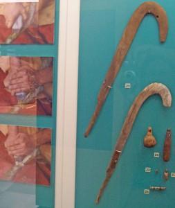 """""""Boomerangs"""": Waffen, Musikinstrumente oder was? Foto: La Palma 24"""