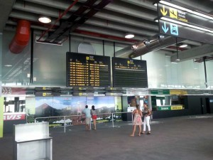 Flughafen La Palma Ankunft