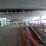 Flughafen obere Etage zur Sicherheitskontrolle