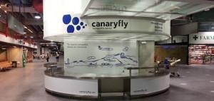 CanaryFly-Büro am Flughafen Santa Cruz de La Palma: Ab nächsten Freitag besetzt. Foto: CanaryFly