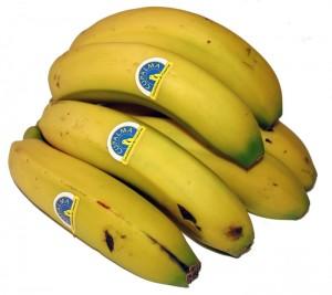 So müssen Plátanos aus La Palma aussehen: gelb mit kleinen Zuckerflecken. Foto: Cupalma