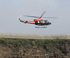 Gracias y felizidades al equipo del helicoptoro de GES al aeropuerto de Santa Cruz de La Palma! Foto: La Palma 24