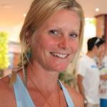 Anna Frost: Transvulcania-2014-Siegerin gibt ein Interview. Foto: La Palma 24