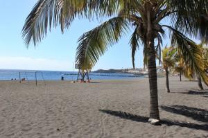 Blaue Flagge: Playa Bajamar bei Santa Cruz. Foto: La Palma 24