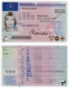 Deutschland-Führerscheine erstellt nach dem 19. Januar 2013: