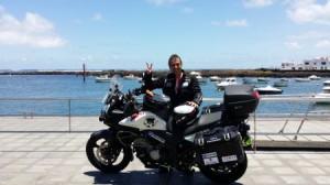 José Ángel País hat einen neuen Rekord aufgestellt: in dreieinhalb Tagen über die Kanaren mit dem Motorrad. Foto: Redaktion