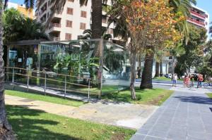 Das Glashaus am Stadteingang von Santa Cruz: Bei diesem i-Punkt soll ab Sommer 2014 ein Großbildschirm mit Infos aufgebaut werden. Foto: La Palma 24