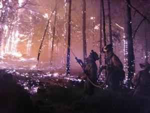 Mitten im Auge des Feuersturms: Das können nur Profis, Nieves Arroyo gibt Tipps für Wanderer, die in die Nähe eines Brandes geraten. Foto: BRIF