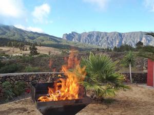 Grillen ist nicht verboten: Aber natürlich gilt auch hier erhöhte Vorsicht wegen des Funkenflugs! Foto: La Palma 24
