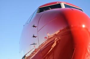 Rote Nase vorn: Norwegian Air Shuttle legte einen rasanten Aufstieg hin. Pressefoto: Norwegian