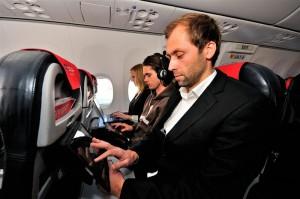 Fliegen & surfen: Auf den Europaflügen von Norwegian bereits Standard. Pressefoto: Norwegian