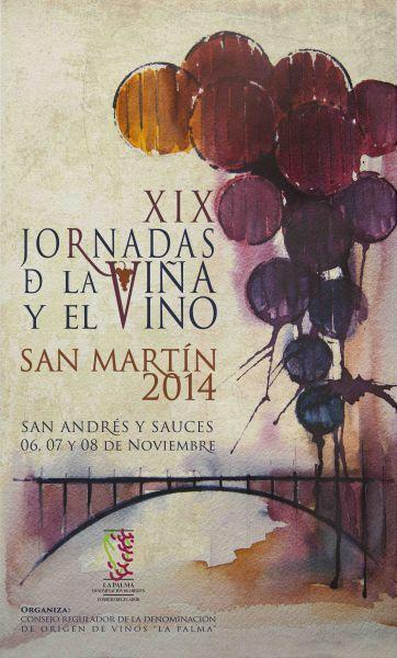 Wie immer topp: Werbeplakat für die Weintage 2014 auf La Palma.