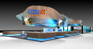 Alle Kanareninseln gemeinsam: Werbung auf dem World Travel Market in London am neudesignten Stand. Foto: Turismo de Canarias