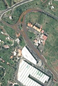 Cruze del Molino: Das Modell zeigt die zusätzlichen Spuren, um den Unfallschwerpunkt zu entschärfen. Foto: Obras de La Palma