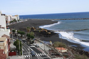 Hauptstadtstrand Santa Cruz de La Palma: Noch nicht fertig, aber es gibt schon Regeln. Foto: Stadt