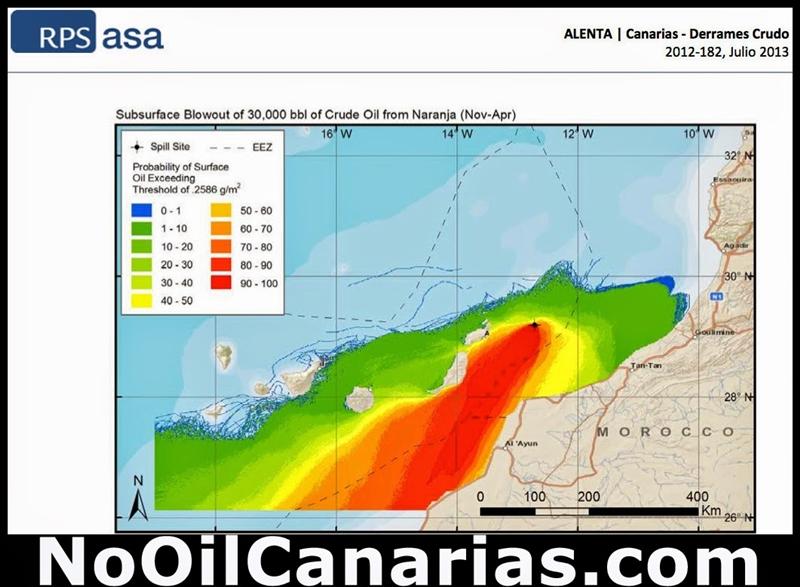 Worst-Case-Szenario, veröffentlicht auf der Website von No-Oil-Canarias: