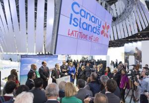 """Kanarenpräsident Paulino Rivero letzte Woche bei der World Travel Market in London: """"Die kanarischen Inseln werden 2014 einen historischen Rekord im Blick auf die Touristenzahlen verzeichnen"""". 13 Millionen Be"""