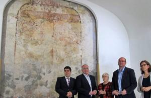 Christus-Wandgemälde aus dem 16. Jahrhundert: wieder öffentlich. Foto: Cabildo