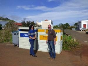 Umwelträtin Nieves Rosa Arroyo (links): Aufruf zur Mülltrennung auf La Palma. Foto: Cabildo