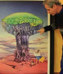 El Drago, Ölgemälde von 1977: Luis Morera hat das Leben und Sterben der Ureinwohner in das Symbol der Kanaren - den Drachenbaum