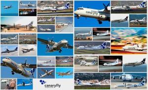 Zwei Jahre Canaryfly: Diese Fotocollage wurde aus Bildern von Fans der jungen Airline zusammengestellt.