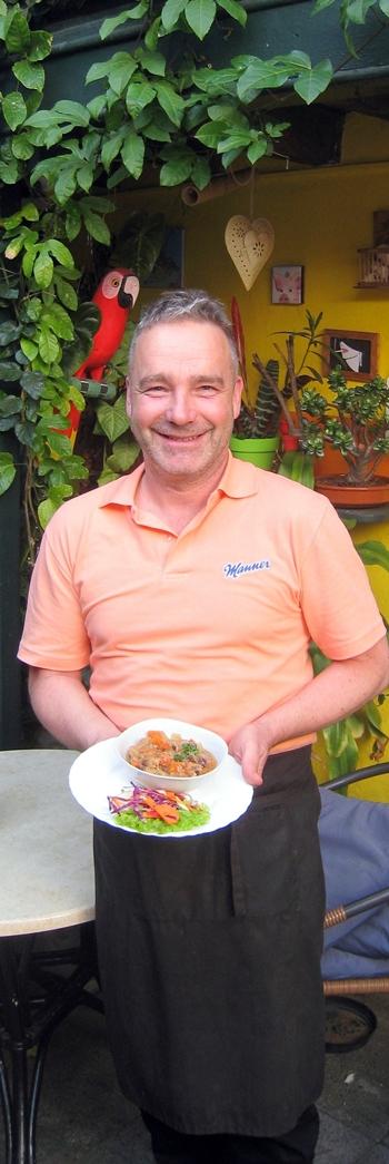 Stefan Braun: köchelt leckere Gerichte.