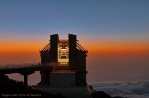 Telescopio Nazionale Galileo auf La Palma: In diesem italienischen Observatorium steht einer der beiden besten Spektrographen der Welt - HARPS-N. Der andere ist HARPS-S in Chile. Foto: Giovanni Tessicini