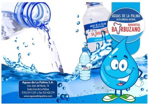"""Aguas de La Palma: füllt Wasser mit und ohne """"Gas"""" ab und ist Sponsor bei der Bajada 2015. Foto: Aguas de La Palma"""