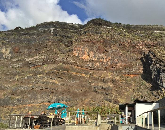 Kiosko Los Guirres: schöner Platz mit Blick in die Berge und auf den Atlantik.