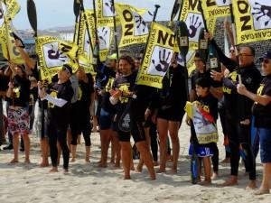 Protest gegen die Erdöl-Pläne auf den Kanaren: Der hat die Probebohrungen zwar nicht verhindert, aber deren negatives Ergebnis freut die Umweltschützer auch. Foto: Save Canarias