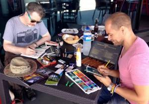 Victor lebt zwar auf Teneriffa, kommt aber immer wieder nach La Palma - 2014 zum Beispiel begleitete er Steve Simpson beim #Onthedraw-Projekt der Kanarenregierung. Foto: Onthedraw