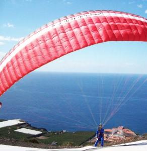 Palmaclub-eigener Startplatz Klippe: oberhalb von Puerto Naos im sonnigen Westen der Insel. Foto: La Palma 24