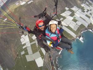 Tandem-Gliden: Guck Dir La Palma doch mal von oben an! Foto: Palmaclub