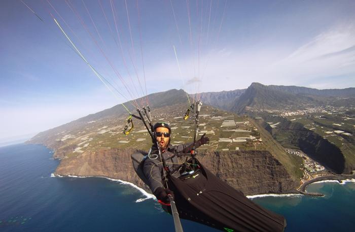 Gleitschirm-Wettbewerbe: Bilder von La Palma gehen um die Welt - eine der schönsten Werbeformen für die Isla Bonita. Vielleicht nimmt die Inselregierung diese Möglichkeit mal wieder in ihren Marketing-Katalog auf. Foto: Palmaclub
