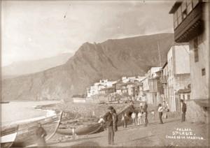 Avenida Marítima in Santa Cruz 1890: Die Hauptdarstellerin Elsa der Romane von Barbara Schlüter kommt aus La Palma. Foto: Palmeros en el Mundo