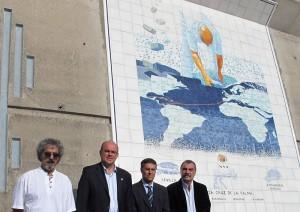 Blickfang im Hafen von Santa Cruz de La Palma: Wandgemälde von