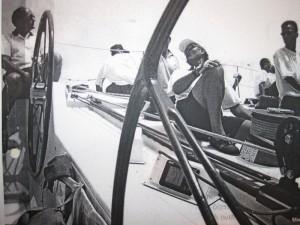Hispania-Foto mit König Juan Carlos: segeln wie einst der King.