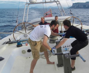 Blue water adventures with the Hispania: Each handle must fit!