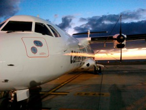 Inselhüpfer von Canaryfly: Auch mit dieser Airline gelangt man von Gran Canaria oder Teneriffa nach La Palma. Pressefoto Canaryfly
