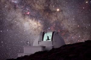 Das Isaac Newton-Tele auf La Palma: forscht auch nach Asteroiden. Pressefoto IAC