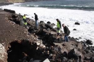 Küste von Maldonado im Osten: Zerstörungen bei hohem Wellengang. Foto: Santa Cruz